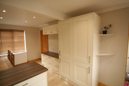 Milbourne Alabaster - integrated larder fridge and freezer