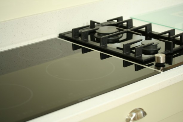 Bosch induction hob and Domino gas hob
