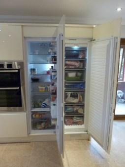 Bosch full height larder fridge and larder freezer