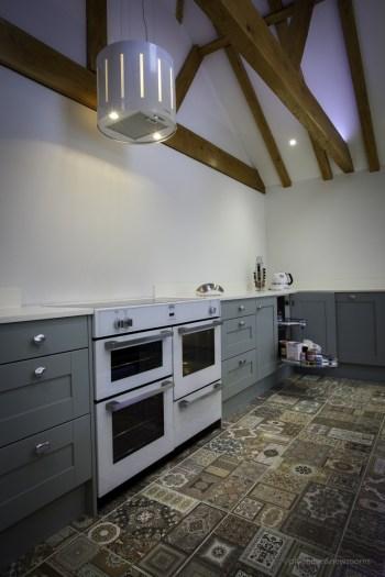 Belling white range cooker