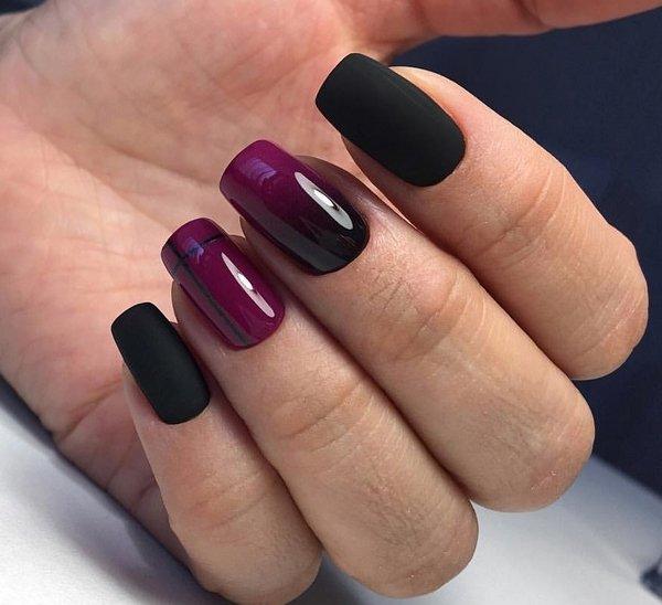 маникюр на короткие ногти фото дизайн 2019 гель лак 7