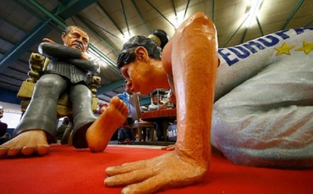Скандальная скульптура на выставке в Германии