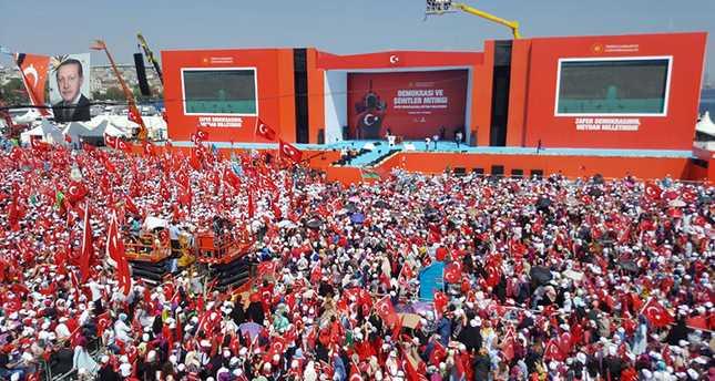 Митинг в Стамбуле посетят от 3 до 5 миллионов граждан