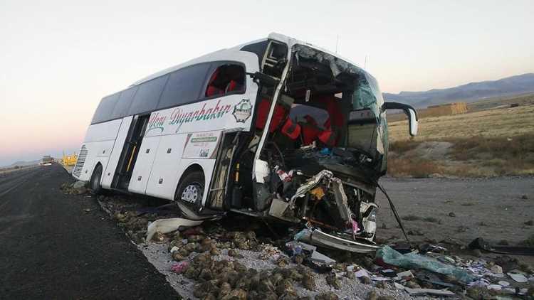 Автобус не доехал из Антальи до Диярбакыра