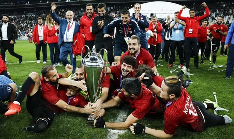 Турецкие футболисты-ампутанты стали чемпионами Европы