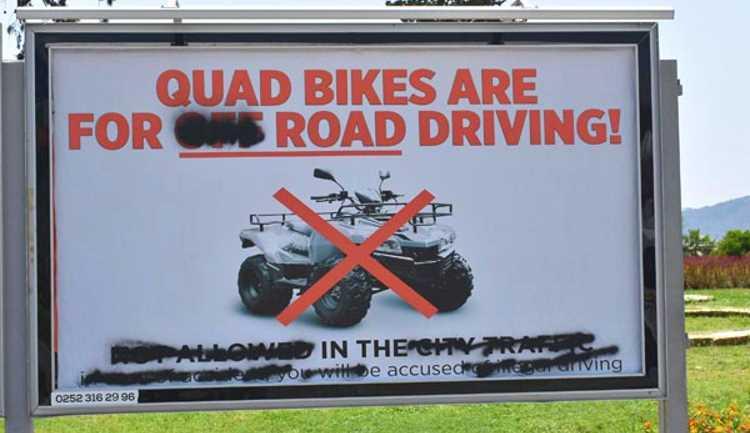 В Мармарисе запретили езду на квадроциклах