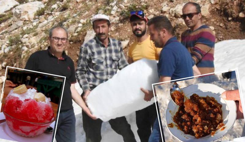 Жители Анталии ездят за «снежным десертом» в горы