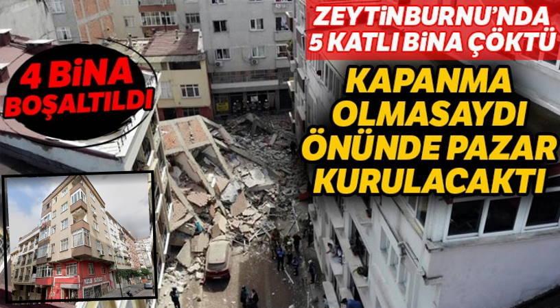 В Стамбуле обвалилось 5-этажное здание
