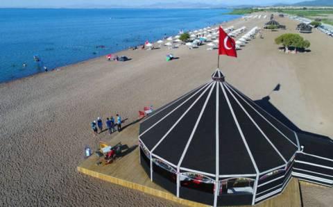 В Конье открылся самый большой пресноводный пляж