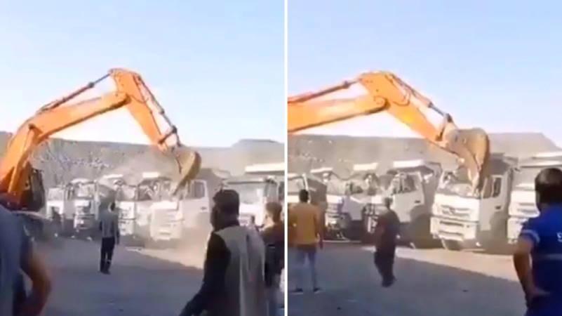 Не получивший заплату рабочий искорежил 5 грузовиков