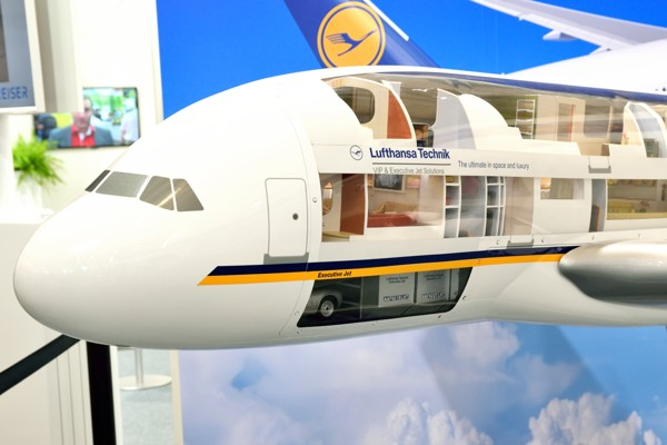 aménagement avion lufthansa