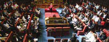 The Chamber of the House of Lords at Westminster