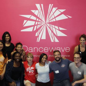 In collaboration with YouthINC. In photo: A & M and Youth INC. Volunteers, Dancewave Company Students and Staff