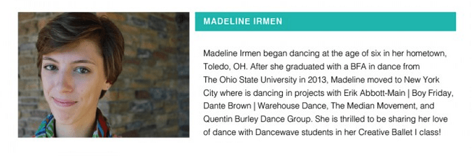 Our feature teacher of the week: Madeline Irmen