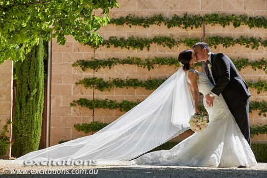 wedding photos in a private garden at Gol Gol. Wedding photography by excitations Mildura POhotographers.