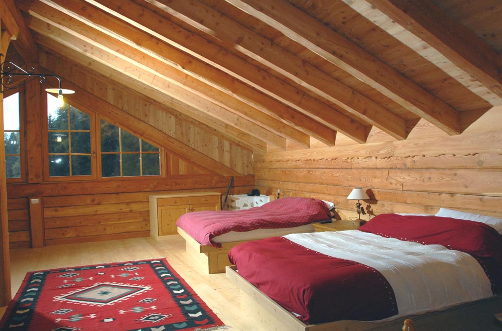 Camere classiche e camere moderne in legno come da tradizione