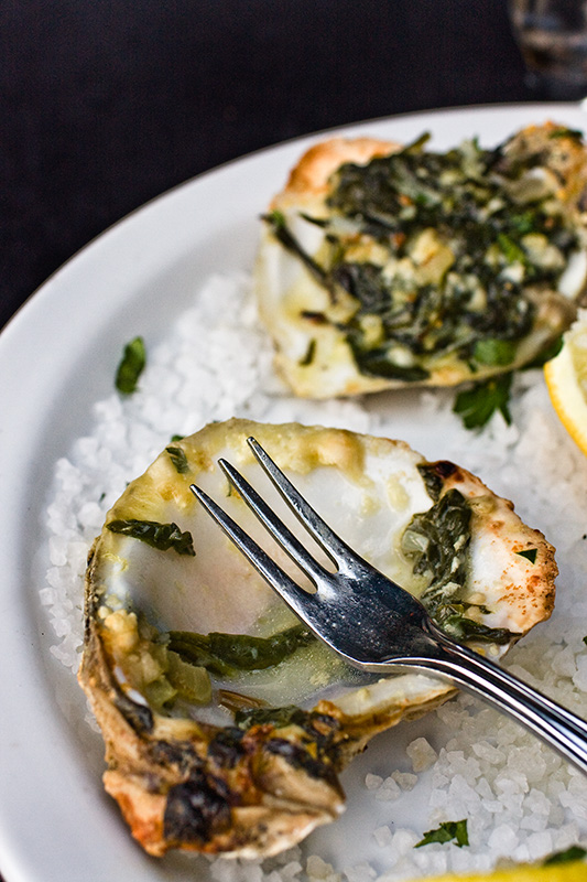 Baked Oysters Rockefeller. Food photography by Jackie Alpers