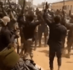 Nigerian soldiers celebrate after capturing a Boko Haram stronghold (video)