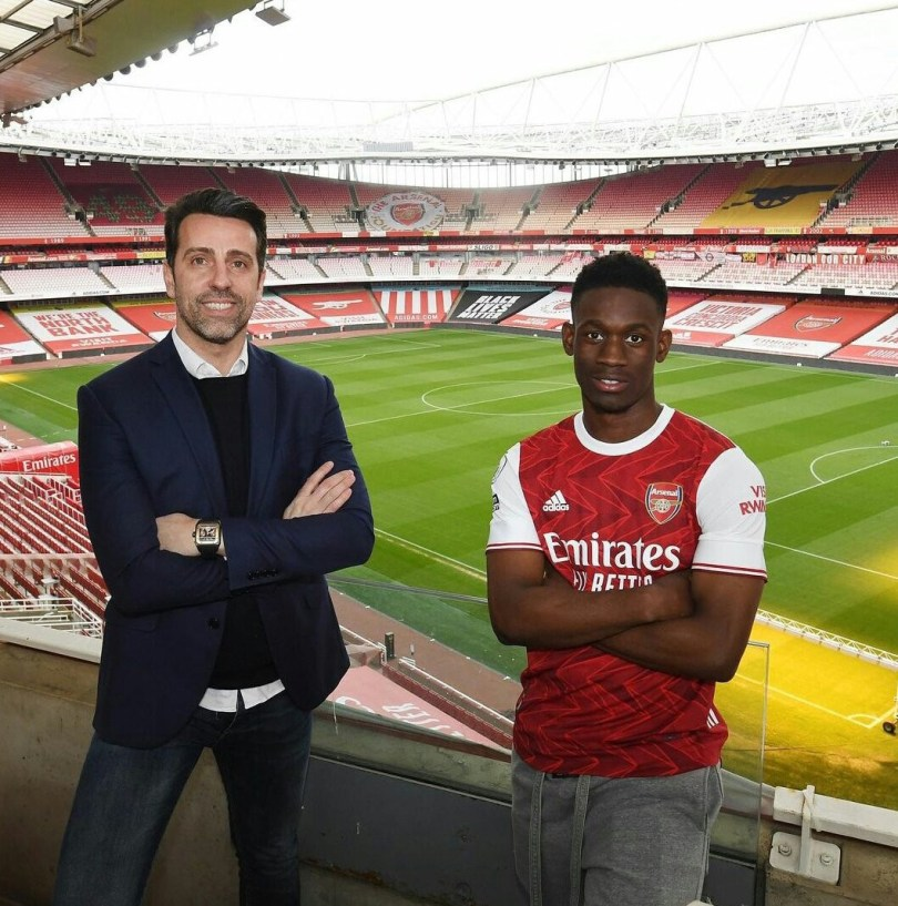 Nigerian striker, Folarin Balogun signs new long-term deal with Arsenal