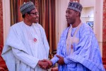 President Buhari holds late night meetings with Governor Zulum and Tinubu