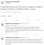 NASS promises to ensure return of Nigerian students trapped in Volcanic Caribbean Island