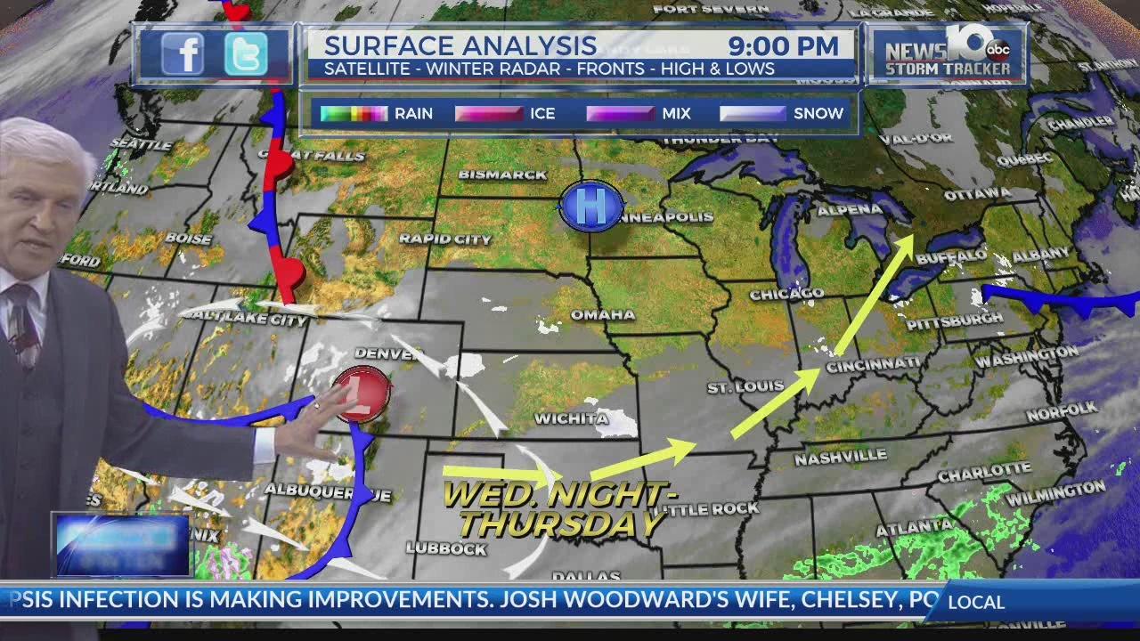 2/18/19 Storm Tracker Forecast: Light Snow Today