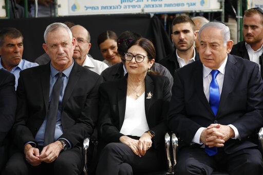 Benny Gantz, Esther Hayut, Benjamin Netanyahu