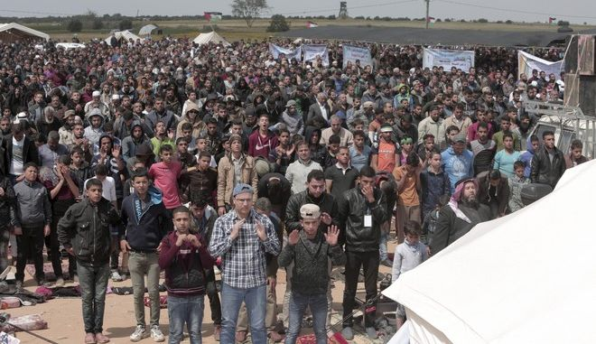 Διαδηλωτές στη Λωρίδα της Γάζας