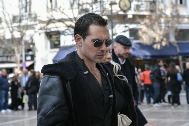 Άνθιμος Ανανιάδης στην κηδεία του ηθοποιού Κώστα Βουτσά στην Αθήνα την Παρασκευή 28 Φεβρουαρίου 2020