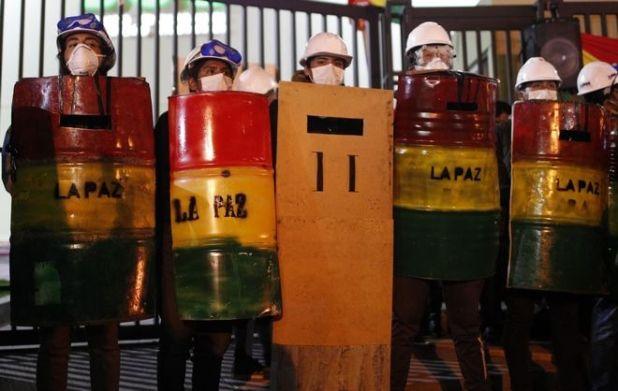 Διαδηλωτές στη Βολιβία