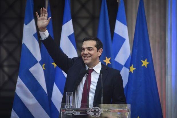 Η είσοδος του πρωθυπουργού στο Ζάππειο στην κοινή συνεδρίαση των Κ.Ο. ΣΥΡΙΖΑ και ΑΝΕΛ