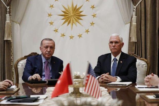 Συνομιλίες Ερντογάν - Πενς στην Άγκυρα για την Συρία