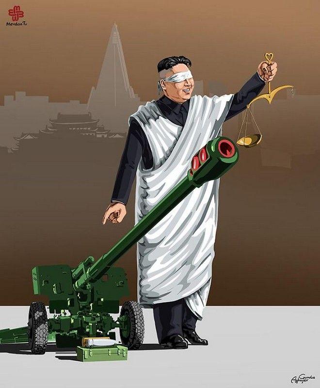 Σατιρικά σκίτσα δείχνουν πως αντιμετωπίζουν οι παγκόσμιοι ηγέτες τη δικαιοσύνη