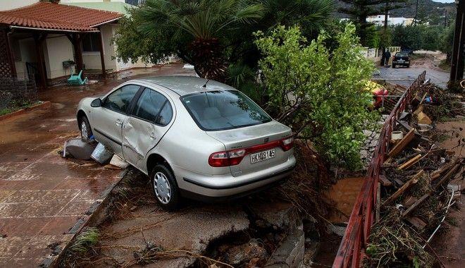 Καταστροφές από τις πλημμύρες στη Χερσόνησο Κρήτης