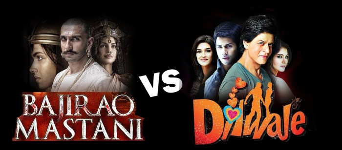 Dilwale vs Bajirao Mastani: Who will win the box office battle?