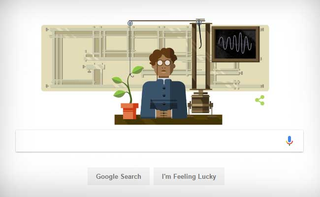 Google Celebrates Birthday Of Scientist Jagdish Chandra Bose With A Doodle