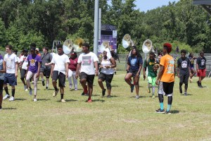 Freshman band camp at Darlington High School
