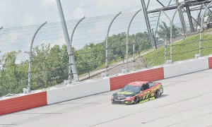 NASCAR drivers hit the high banks of Darlington Raceway during Goodyear tire test