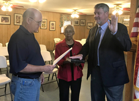 Moyd sworn in as Society Hill's new judge