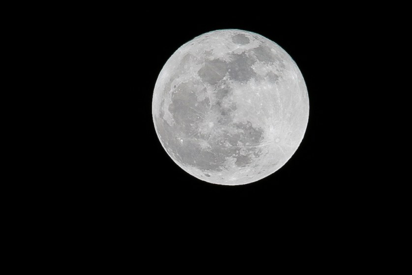 """Cold Moon"" over Darlington tonight"