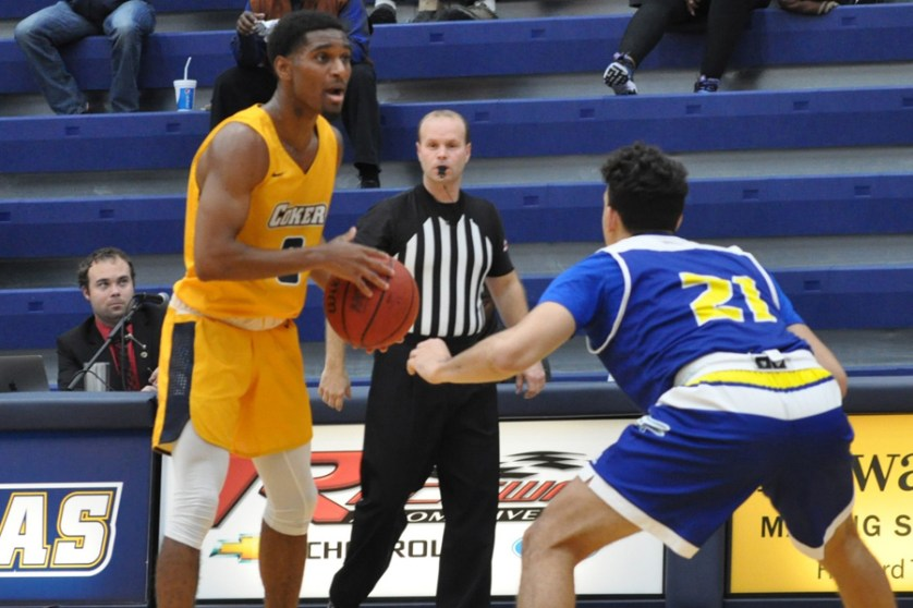 Coker men's basketball team battles, but falls at Lander