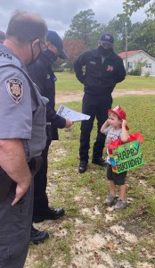 First-responders grant toddler's birthday wish