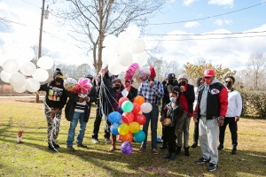 Balloons fly high in memory of a Lydia loved one