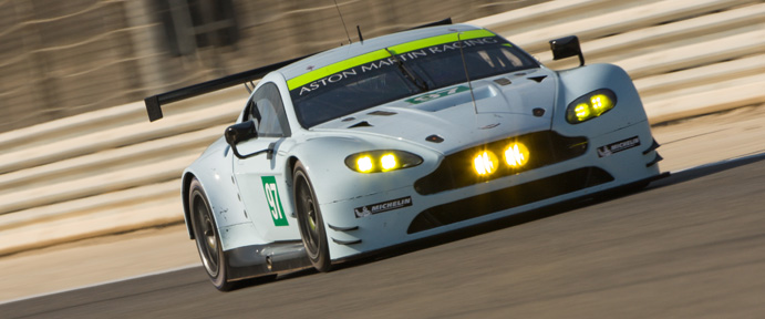 Car #96 / ASTON MARTIN RACING (GBR) / Aston Martin Vantage V8 / Darren Turner (GBR) / Jonathan Adam (GBR) / Marco Sorensen (DNK)- Bahrain Rookie Test at Bahrain International Circuit - Sakhir - Bahrain