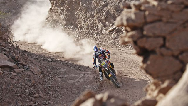 Marc Coma performs during the 3rd stage of Rally Dakar 2015 from San Juan to Chilecito, Argentina on January 6th, 2015