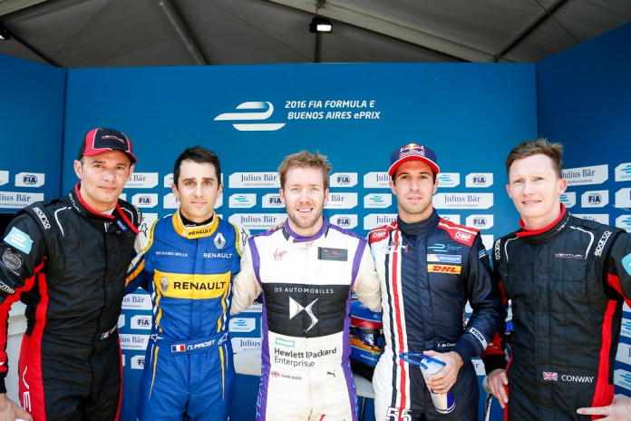 Top 5 Drivers in Qualifying. Buenos Aires ePrix. Buenos Aires, Argentina, South America Saturday 6 February 2016 Photo: Adam Warner /LAT/FE ref: Digital Image _L5R0710