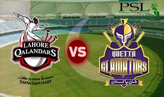 Quetta Gladiators defeat Lahore Qalandars