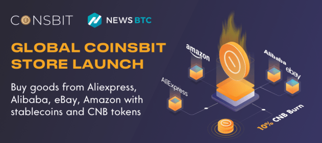 Coinsbit Exchange Launches Global Marketplace and Burns 10% of CNB Tokens | NewsBTC