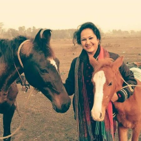 Shalini Agarwal with her Animals