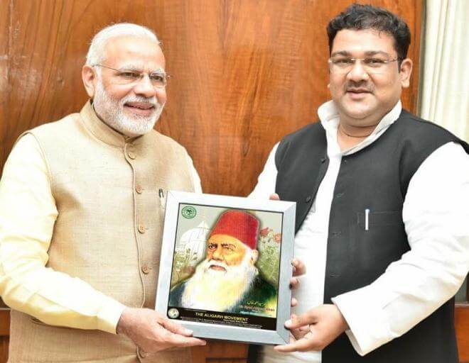 Jasim Mohammad, the director of the FMSA with Prime Minister Narendra Modi